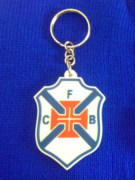 Porta-chaves em borracha com Emblema