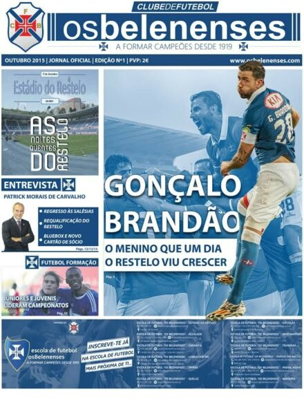 """Jornal """"Os Belenenses"""" - Outubro de 2015"""