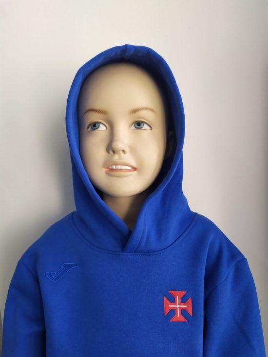 camisola capuz azulao crianca