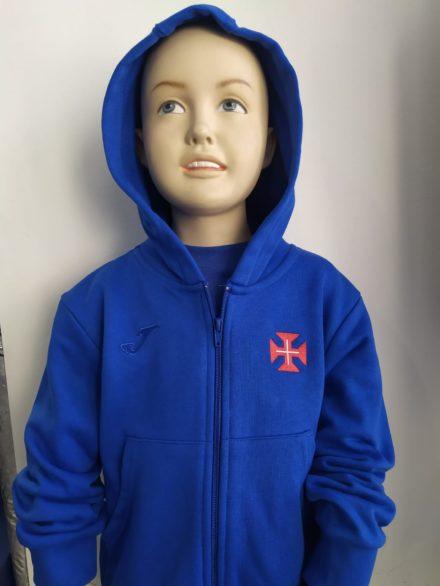 casaco capuz azulao crianca