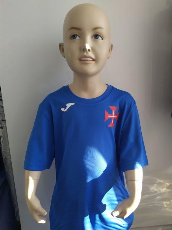 tshirt azulao cruz cristo crianca